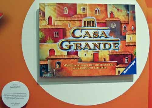 Am Ravensburger-Stand: Ankündigung von Casa Grande von Günter Burkhardt